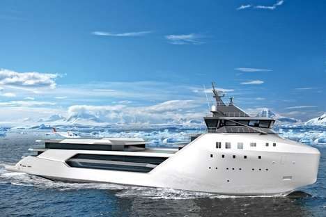 Cargo Ship Yachts - The Edmiston Vard 1-08 Kilkea is Inspired by Supply Vessel Design