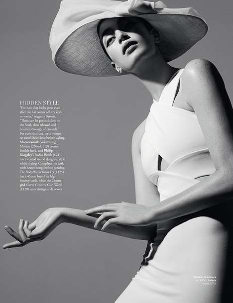 Retro Headwear Editorials - Rui Faria's 'Hat Tricks' Fashion Story is Captured for Harrods Magazine