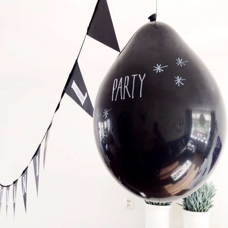 Customizable Chalkboard Balloons - Perfectly Smitten's Balloons Can Be Personalized for Events