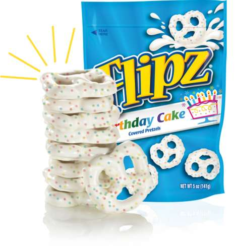 Birthday Cake-Flavored Pretzels - These Covered Pretzels Evoke Memories of Birthday Celebrations