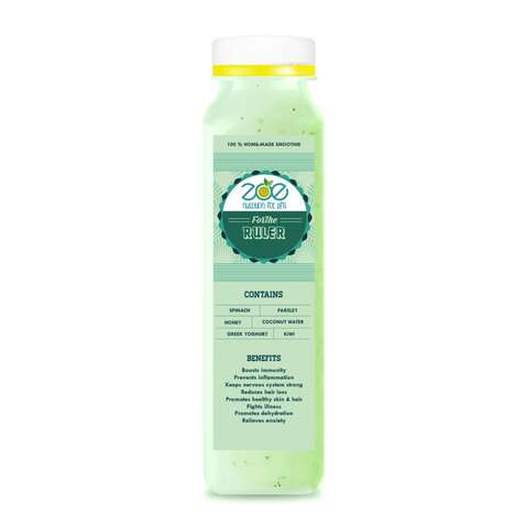 Light Green Smoothies - 'For the Ruler' is a Coconut Water, Yogurt and Vegetable Drink