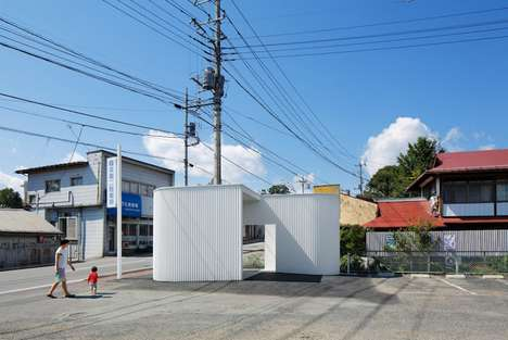 Corrugated Public Toilets - Architects Made This Public Bathroom Surprisingly Sleek and Modern