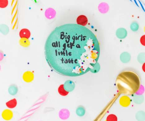 Lyrical Macaron Treats - These Homemade Birthday Cake Macarons are Improved with Drake Lyrics