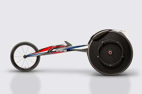 Aerodynamic Racing Wheelchairs - This BMW Wheelchair Will Be Used By American Paralympic Athletes