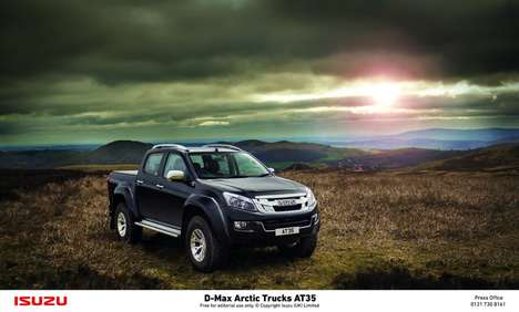 Extreme Pickup Trucks - This New Pickup Truck Features Outdoor-Friendly Suspension and Wheels