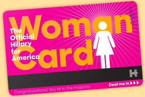 Attack-Countering Woman Cards - The Official Hillary for America Woman Card Can Be Bought Online