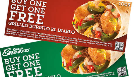 Jalapeño Popper-Stuffed Burritos - The New Burrito El Diablo Features a Spicy Surprise Inside