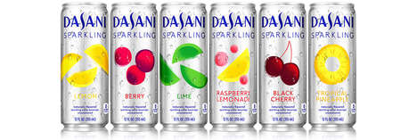 Fruit-Flavored Sparkling Waters - The Dasani Sparkling Range Now Comes in More Fruit Flavors
