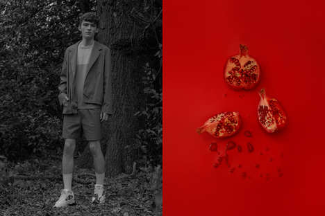 Fashionable Food Photography - This Harry Cooke Editorial Spotlights Menswear and Food Collages