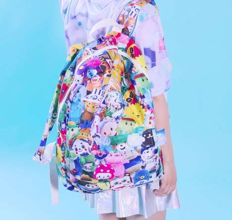 Cartoon Mascot Accessories - INU INU's Patterned Backpacks Boast Popular Japanese Characters