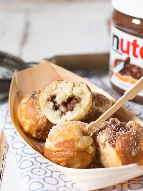 Chocolate-Filled Pancake Pops - These Nutella Pancake Bites Make a Gooey and Indulgent Breakfast