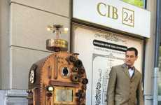 Steampunk-Style ATMs