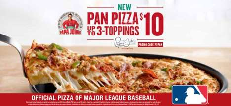 Pan-Baked Pizza Crusts - The New Pan Pizza Option at Papa John's Features a Thick Crust
