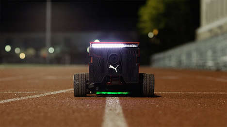 Motivational Running Robots - The PUMA BeatBot Gives Runners a Data-Driven Visual Competitor