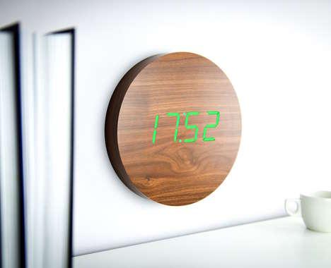 Responsive Digital Wall Clocks