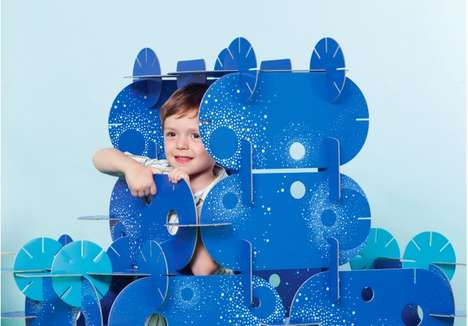 Modular Children's Forts - Mon Petit Art's Kid-Friendly Construction Kit Builds a DIY Play Room