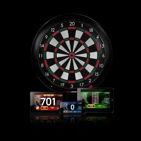 Connected Bluetooth Dartboards - The 'Gran Board 2' Electronic Dartboard Uses a Smartphone or TV
