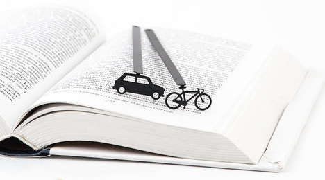 Quirky Laser-Cut Bookmarks - Cool Bookmark Creates Minimalist Page Savers for Modern Readers