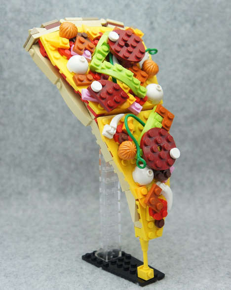 Building Block Pizzas - This Inedible Piece of Pizza is Recreated Using Colorful LEGO Bricks