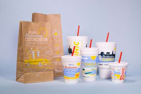 Road Trip Food Packaging - The SONIC Drive-In New Packaging Designs are Focused on Summer Travel