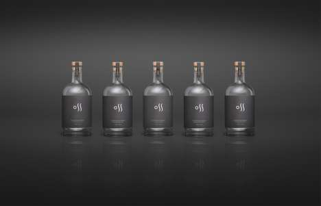Double-Sided Vodka Bottles - The Oss Craft Distillery Packaging Focuses on Scandinavia