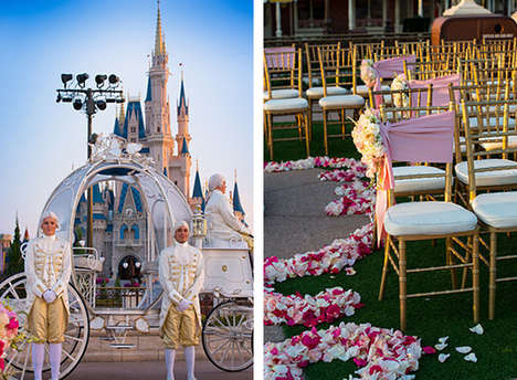 Cinematic Wedding Experiences - Disney World Lets Brides Step into the Role of Cinderella