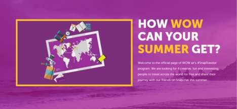 Social Media Travel Programs - The WOW Air SnapTravelers Program Rewards Creative Snapchat Users