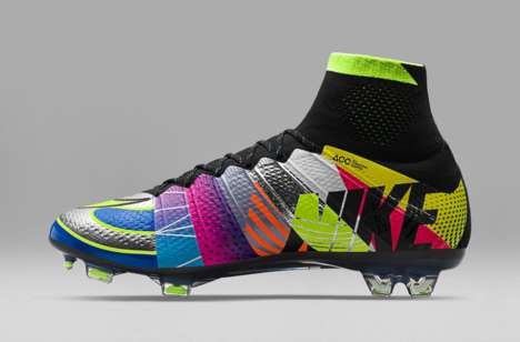 "Collaged Cleat Designs - The Nike Mercurial Superfly IV ""What The"" Combines 16 Past Colorways"