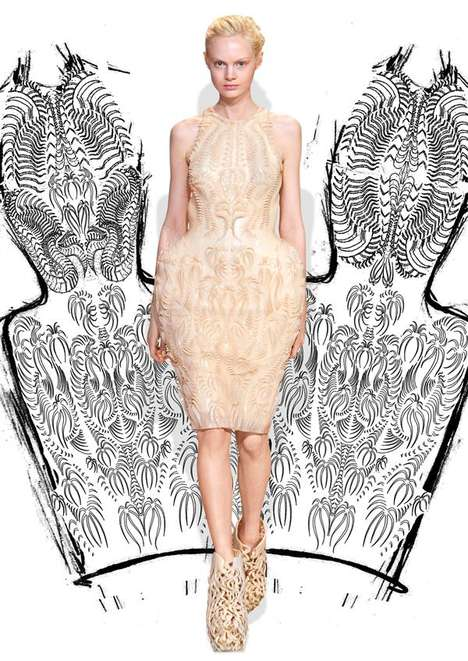 Armored Silicone Dresses - This Iris van Herpen Fashion Piece is a 3D-Printed Silicone Dress