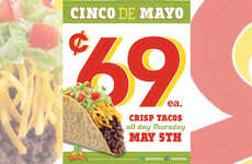 Discount Taco Promotions - This Chain is Celebrating Cinco De Mayo with Discount Tacos