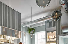 Metal-Clad Restaurant Interiors
