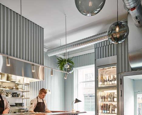 Metal-Clad Restaurant Interiors