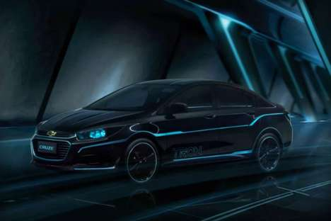Film-Inspired Concept Cars - The Chevrolet Tron: Legacy Cruze Lights Up Blue Like in the Gamer Movie