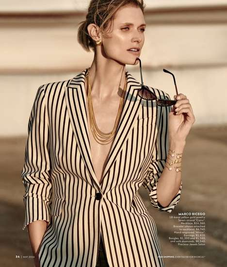 Sophisticated Bejeweled Style - Model Malgosia Bela Stars in the Latest Neiman Marcus Catalog