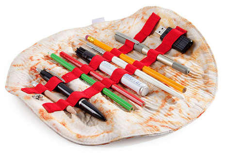 Folding Tortilla Pencil Cases - This Stylish Roll-Up Case is Decorated to Look Like a Real Burrito
