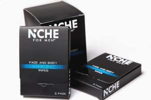 Masculine Deodorizing Wipes - The Niche for Men Towelettes Refresh the Face and Body While on-the-Go