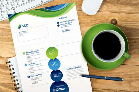 Graphic Utility Bills - SSE Now Uses a Visual Paper Bill System to Map Out Data