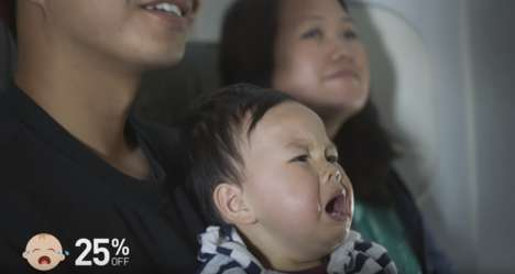 Crying Child Discounts - JetBlue's 'FlyBabies' Gives Flight Deals Each Time an Infant Cries