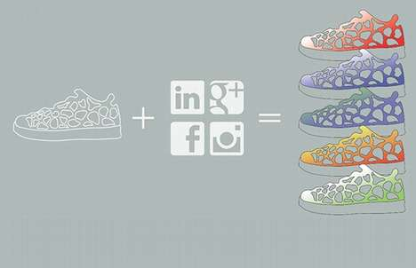 Social Media-Connected Sneakers - The 'SoSole' Footwear Design Encourages IRL Interaction