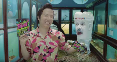Offbeat Candy Commercials - This Quirky Trolli Candy Ad Introduces a Man's Sour Tooth