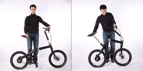 Single-Step Folding Bikes - The 'PLOOI' Folding Electric Bike is Ready to Go at the Push of a Button