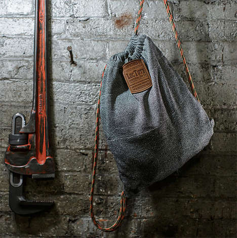 Theft-Proof Backpacks - The 'Flak Sack' Drawstrong Backpack Can be Secured to Poles and More