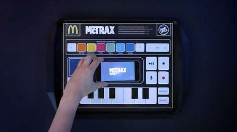 Musical Food Trays - McDonald's 'McTrax' Tray Liners are Smartphone-Connected Music Stations