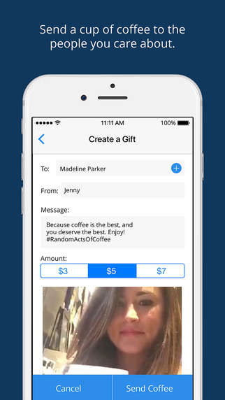 Charitable Coffee-Gifting Apps - The 'Nack' App Allows Users to Buy Anyone a Cup of Coffee