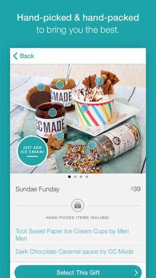 Thoughtful Gift Services - The 'Sesame' App Makes it Easy to Send a Gift Box to Friends or Family