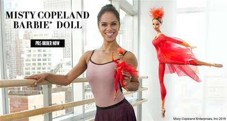 Ballet Dancer Barbie Dolls - The Latest Shero Barbie Doll Honors Famous Ballerina Misty Copeland