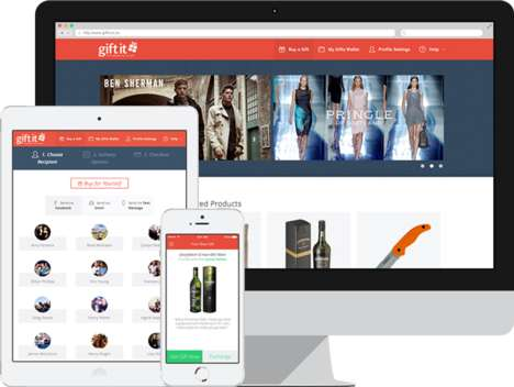 Comprehensive Gift Retail Apps - The 'Gift It' App Streamlines Sending and Receiving Gifts
