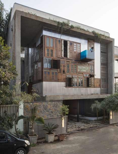 Recycled Door Residences - This House by S+PS Architects Features a Facade Made of Old Doors