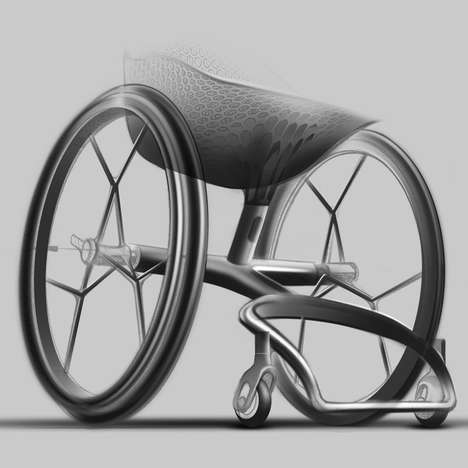 3D-Printed Wheelchairs - Benjamin Hubert's Mobile Chairs Can be Mass-Produced with 3D-Printing Tech