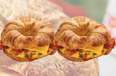 Omelet-Topped Breakfast Sandwiches - The New Dunkin' Donuts' Sandwiches Feature More Eggs